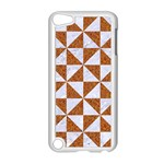 TRIANGLE1 WHITE MARBLE & RUSTED METAL Apple iPod Touch 5 Case (White) Front