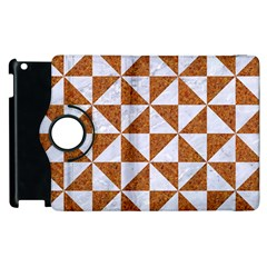 Triangle1 White Marble & Rusted Metal Apple Ipad 3/4 Flip 360 Case by trendistuff