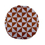 TRIANGLE1 WHITE MARBLE & RUSTED METAL Standard 15  Premium Round Cushions Back