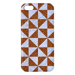 TRIANGLE1 WHITE MARBLE & RUSTED METAL Apple iPhone 5 Premium Hardshell Case