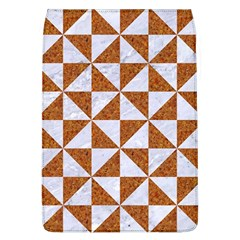 TRIANGLE1 WHITE MARBLE & RUSTED METAL Flap Covers (L)