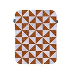 TRIANGLE1 WHITE MARBLE & RUSTED METAL Apple iPad 2/3/4 Protective Soft Cases Front