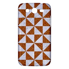 Triangle1 White Marble & Rusted Metal Samsung Galaxy Mega 5 8 I9152 Hardshell Case  by trendistuff