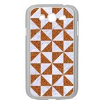 TRIANGLE1 WHITE MARBLE & RUSTED METAL Samsung Galaxy Grand DUOS I9082 Case (White) Front