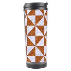 Triangle1 White Marble & Rusted Metal Travel Tumbler by trendistuff