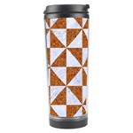 TRIANGLE1 WHITE MARBLE & RUSTED METAL Travel Tumbler Right