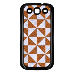 Triangle1 White Marble & Rusted Metal Samsung Galaxy S3 Back Case (black)