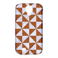 Triangle1 White Marble & Rusted Metal Samsung Galaxy S4 Classic Hardshell Case (pc+silicone)