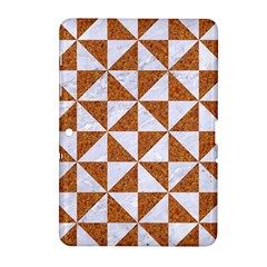 Triangle1 White Marble & Rusted Metal Samsung Galaxy Tab 2 (10 1 ) P5100 Hardshell Case