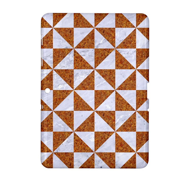 TRIANGLE1 WHITE MARBLE & RUSTED METAL Samsung Galaxy Tab 2 (10.1 ) P5100 Hardshell Case