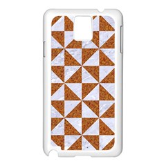 Triangle1 White Marble & Rusted Metal Samsung Galaxy Note 3 N9005 Case (white)