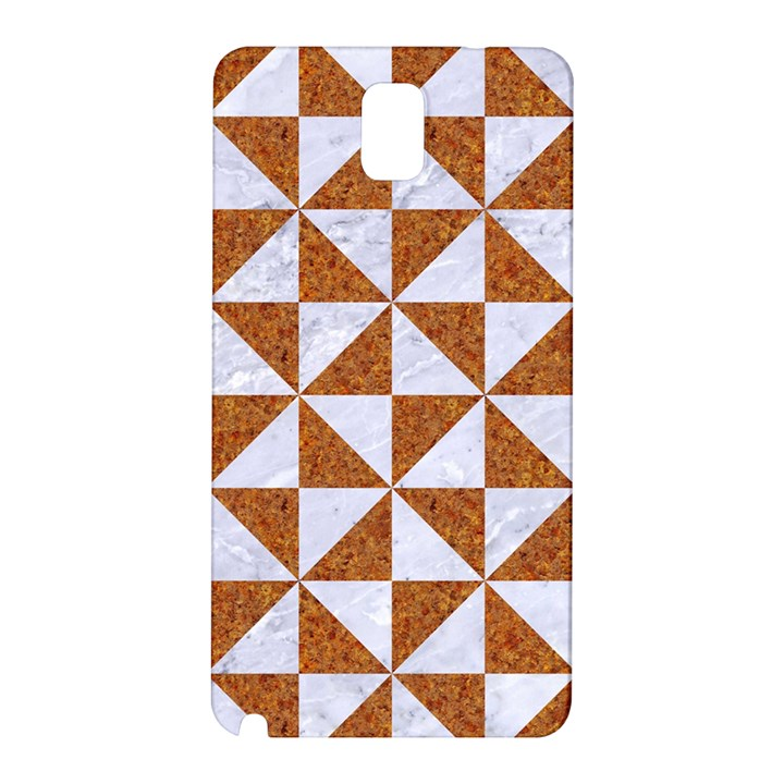 TRIANGLE1 WHITE MARBLE & RUSTED METAL Samsung Galaxy Note 3 N9005 Hardshell Back Case