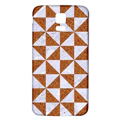 TRIANGLE1 WHITE MARBLE & RUSTED METAL Samsung Galaxy S5 Back Case (White)