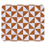 TRIANGLE1 WHITE MARBLE & RUSTED METAL Double Sided Flano Blanket (Small)  50 x40 Blanket Back