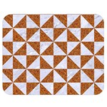 TRIANGLE1 WHITE MARBLE & RUSTED METAL Double Sided Flano Blanket (Medium)  60 x50 Blanket Back