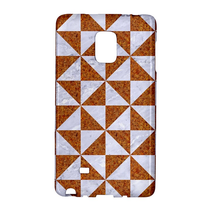 TRIANGLE1 WHITE MARBLE & RUSTED METAL Galaxy Note Edge