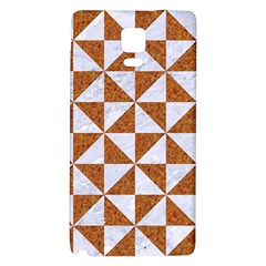 Triangle1 White Marble & Rusted Metal Galaxy Note 4 Back Case by trendistuff