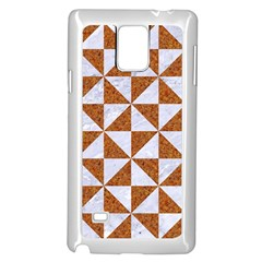 Triangle1 White Marble & Rusted Metal Samsung Galaxy Note 4 Case (white)