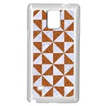 TRIANGLE1 WHITE MARBLE & RUSTED METAL Samsung Galaxy Note 4 Case (White) Front