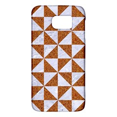 TRIANGLE1 WHITE MARBLE & RUSTED METAL Galaxy S6