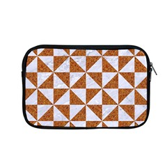 Triangle1 White Marble & Rusted Metal Apple Macbook Pro 13  Zipper Case by trendistuff