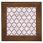TILE1 WHITE MARBLE & RUSTED METAL (R) Framed Tiles