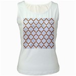 TILE1 WHITE MARBLE & RUSTED METAL (R) Women s White Tank Top