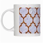 TILE1 WHITE MARBLE & RUSTED METAL (R) White Mugs