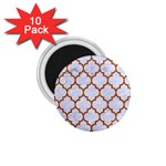 TILE1 WHITE MARBLE & RUSTED METAL (R) 1.75  Magnets (10 pack)