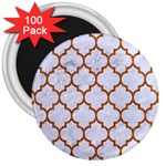 TILE1 WHITE MARBLE & RUSTED METAL (R) 3  Magnets (100 pack)