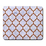 TILE1 WHITE MARBLE & RUSTED METAL (R) Large Mousepads
