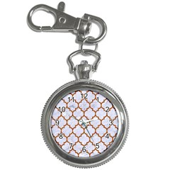 Tile1 White Marble & Rusted Metal (r) Key Chain Watches