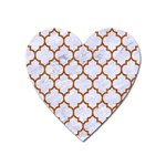 TILE1 WHITE MARBLE & RUSTED METAL (R) Heart Magnet