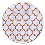 TILE1 WHITE MARBLE & RUSTED METAL (R) Magnet 5  (Round)