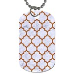 TILE1 WHITE MARBLE & RUSTED METAL (R) Dog Tag (One Side)