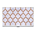 TILE1 WHITE MARBLE & RUSTED METAL (R) Business Card Holders