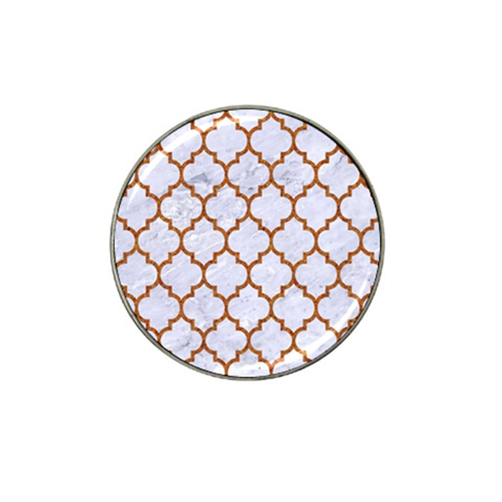TILE1 WHITE MARBLE & RUSTED METAL (R) Hat Clip Ball Marker (4 pack)