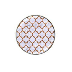 TILE1 WHITE MARBLE & RUSTED METAL (R) Hat Clip Ball Marker (10 pack)