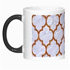 TILE1 WHITE MARBLE & RUSTED METAL (R) Morph Mugs