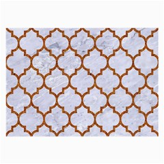 Tile1 White Marble & Rusted Metal (r) Large Glasses Cloth
