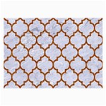 TILE1 WHITE MARBLE & RUSTED METAL (R) Large Glasses Cloth Front