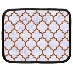TILE1 WHITE MARBLE & RUSTED METAL (R) Netbook Case (XXL)