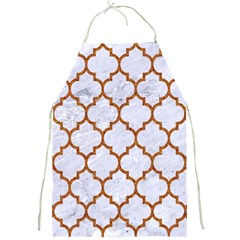 Tile1 White Marble & Rusted Metal (r) Full Print Aprons by trendistuff