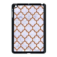 TILE1 WHITE MARBLE & RUSTED METAL (R) Apple iPad Mini Case (Black)