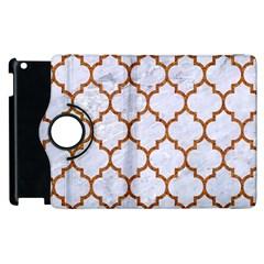 TILE1 WHITE MARBLE & RUSTED METAL (R) Apple iPad 3/4 Flip 360 Case