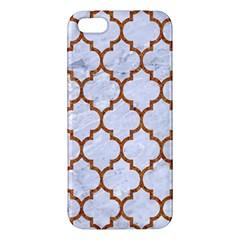 TILE1 WHITE MARBLE & RUSTED METAL (R) Apple iPhone 5 Premium Hardshell Case