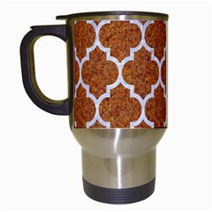 Tile1 White Marble & Rusted Metal Travel Mugs (white) by trendistuff