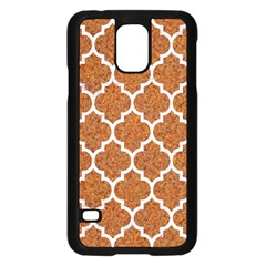 Tile1 White Marble & Rusted Metal Samsung Galaxy S5 Case (black) by trendistuff