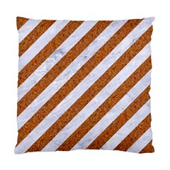 Stripes3 White Marble & Rusted Metal (r) Standard Cushion Case (two Sides) by trendistuff