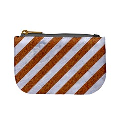 Stripes3 White Marble & Rusted Metal (r) Mini Coin Purses by trendistuff